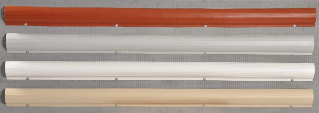 Photo des différentes couleurs du cache câbles pour les façades de batiment