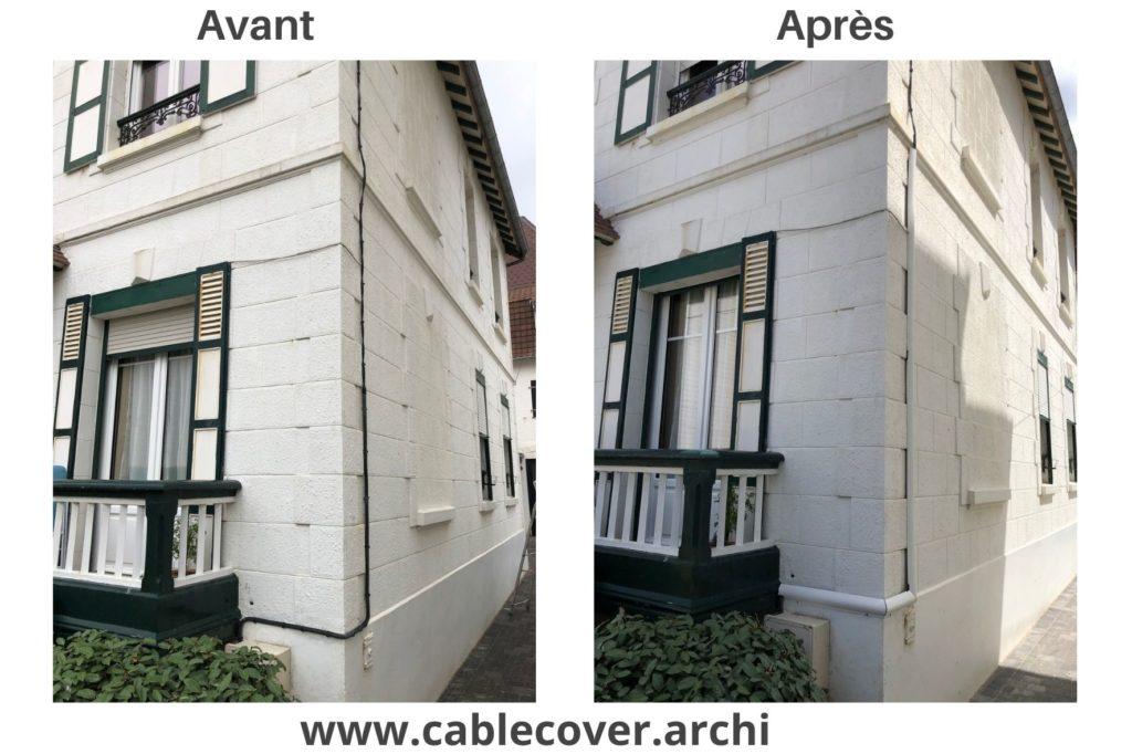 Cable Cover sur façade