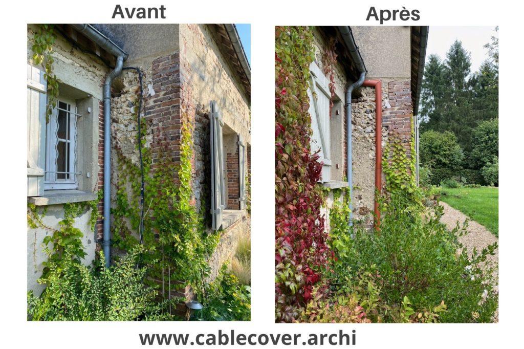 Cable Cover, cache câbles sur façade